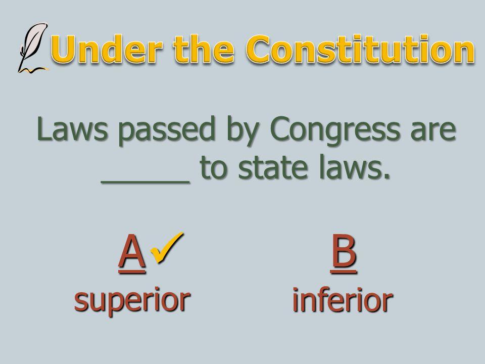 Under the Constitution