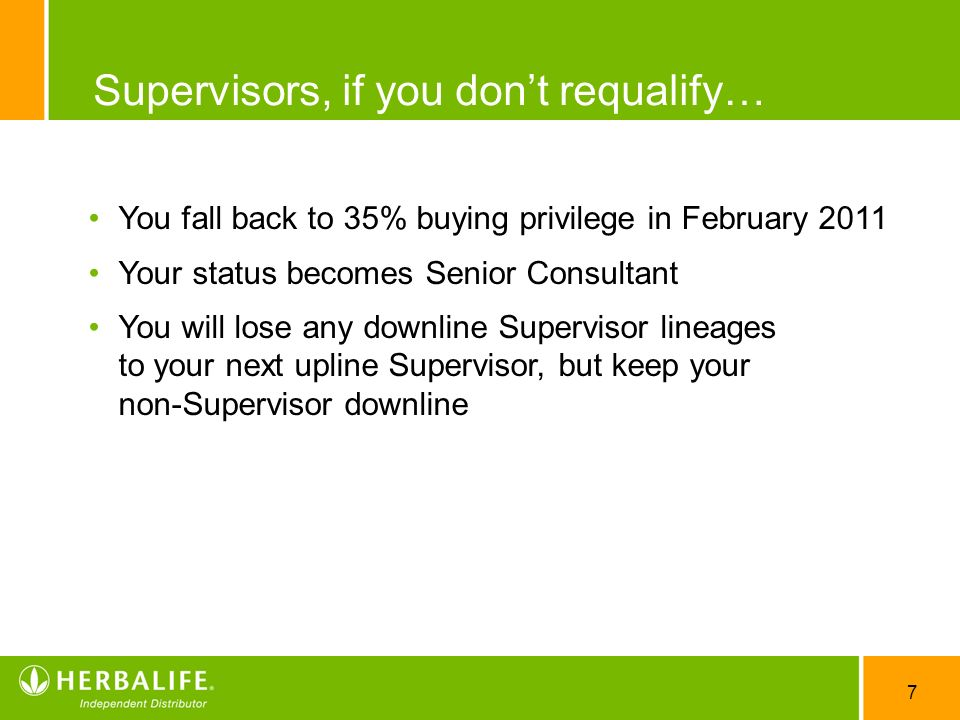 Supervisors, if you don't requalify…