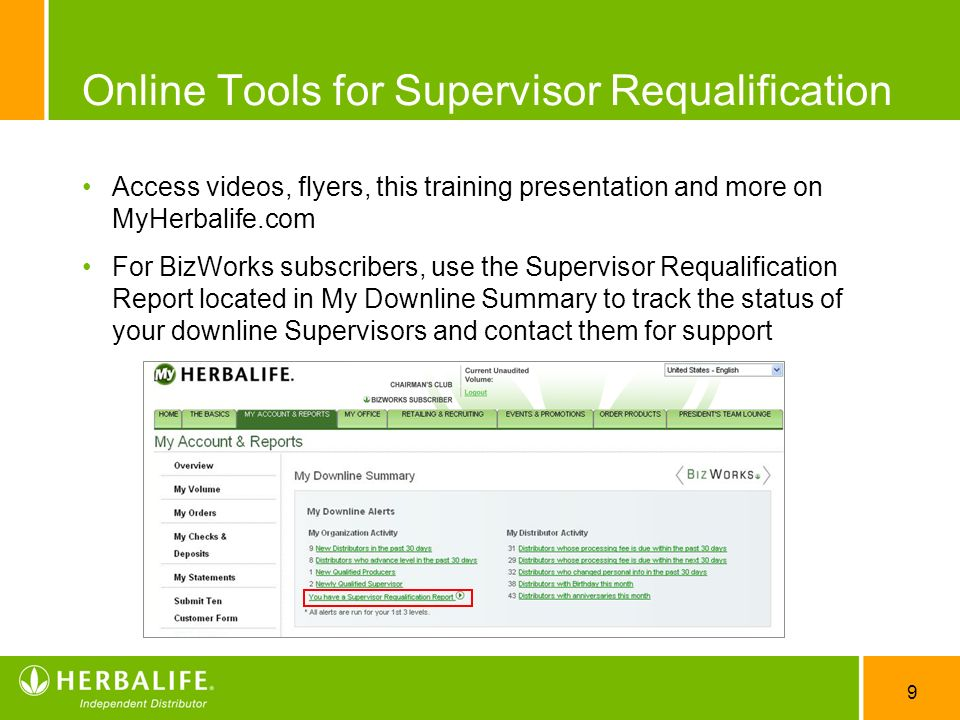Online Tools for Supervisor Requalification