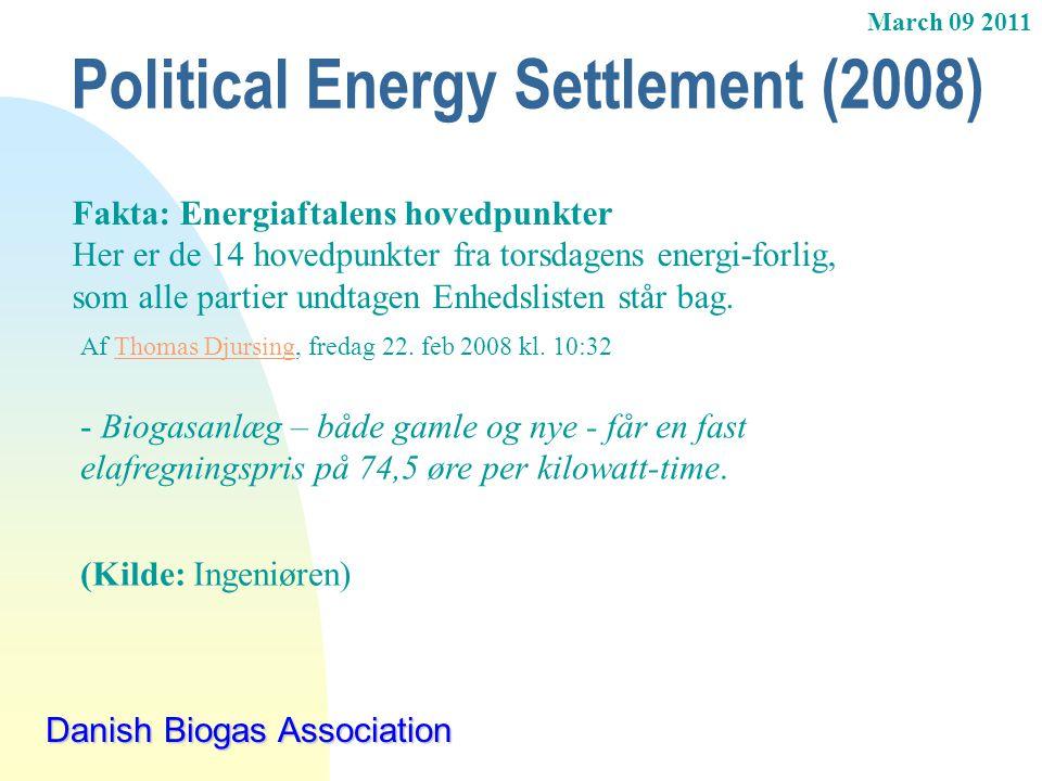 Political Energy Settlement (2008)
