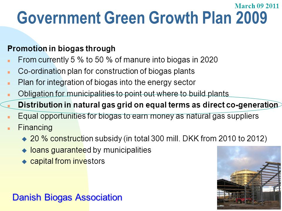 Government Green Growth Plan 2009