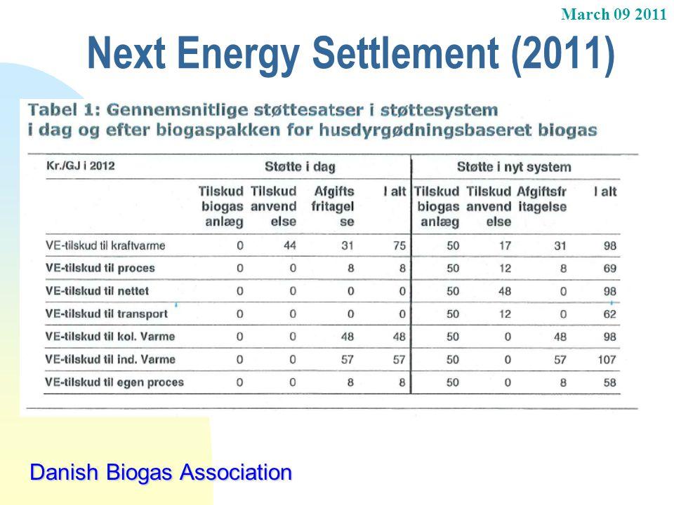 Next Energy Settlement (2011)