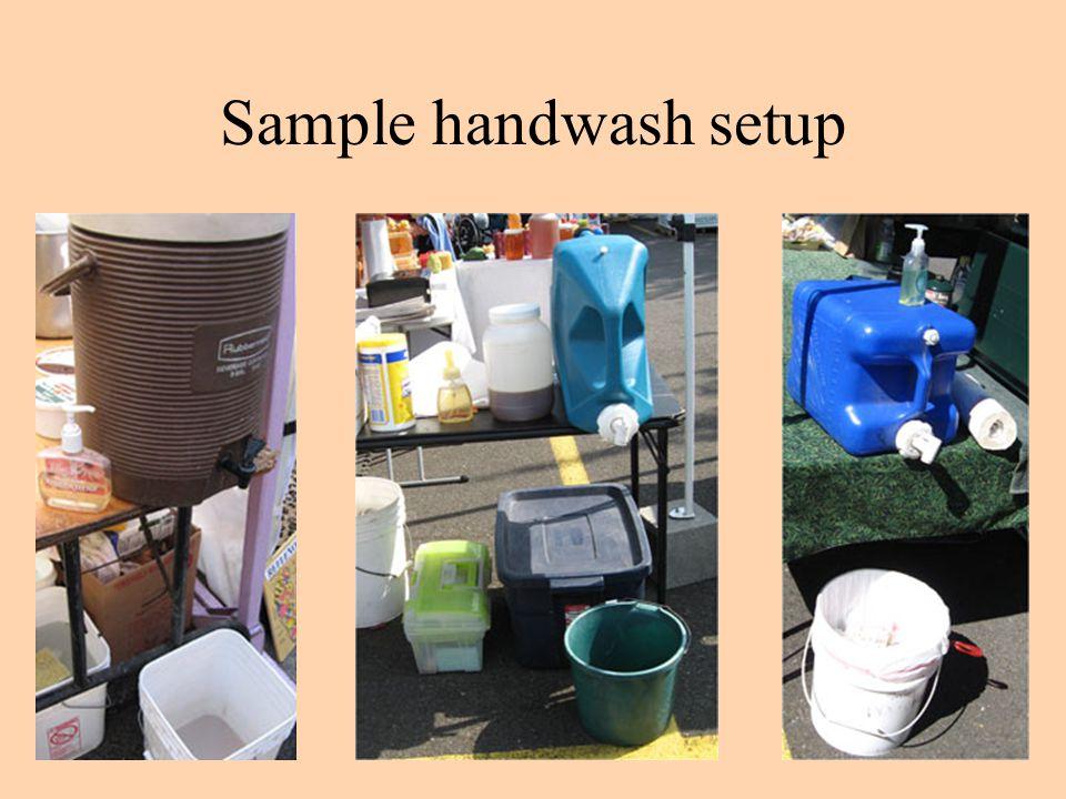 Sample handwash setup