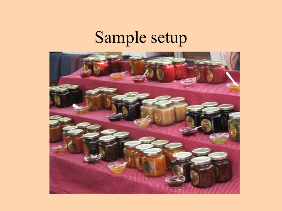 Sample setup