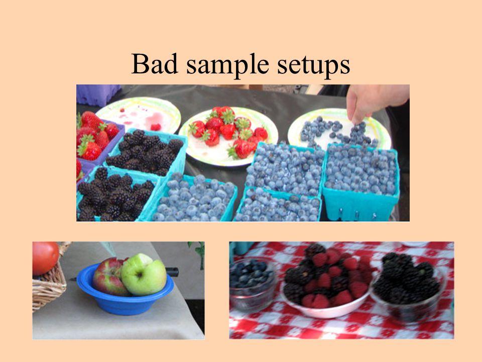 Bad sample setups