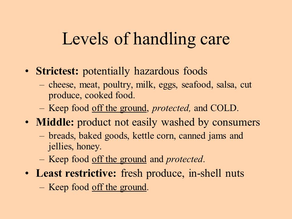 Levels of handling care