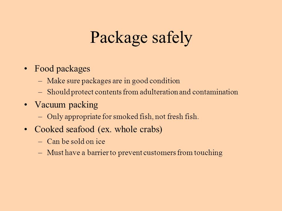 Package safely Food packages Vacuum packing
