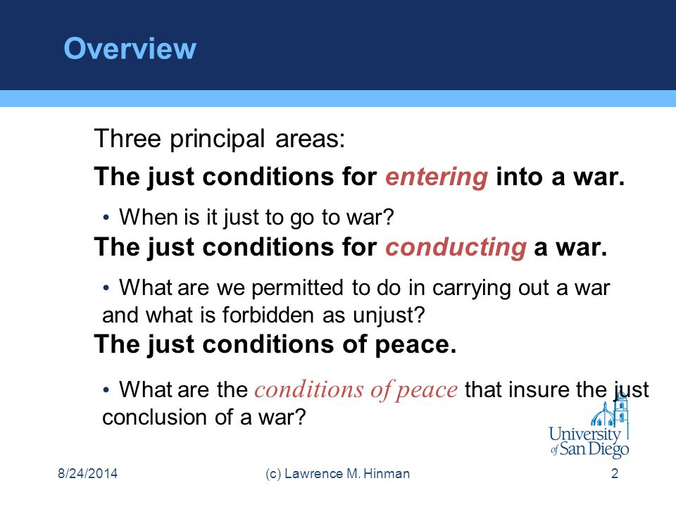 Overview Three principal areas: