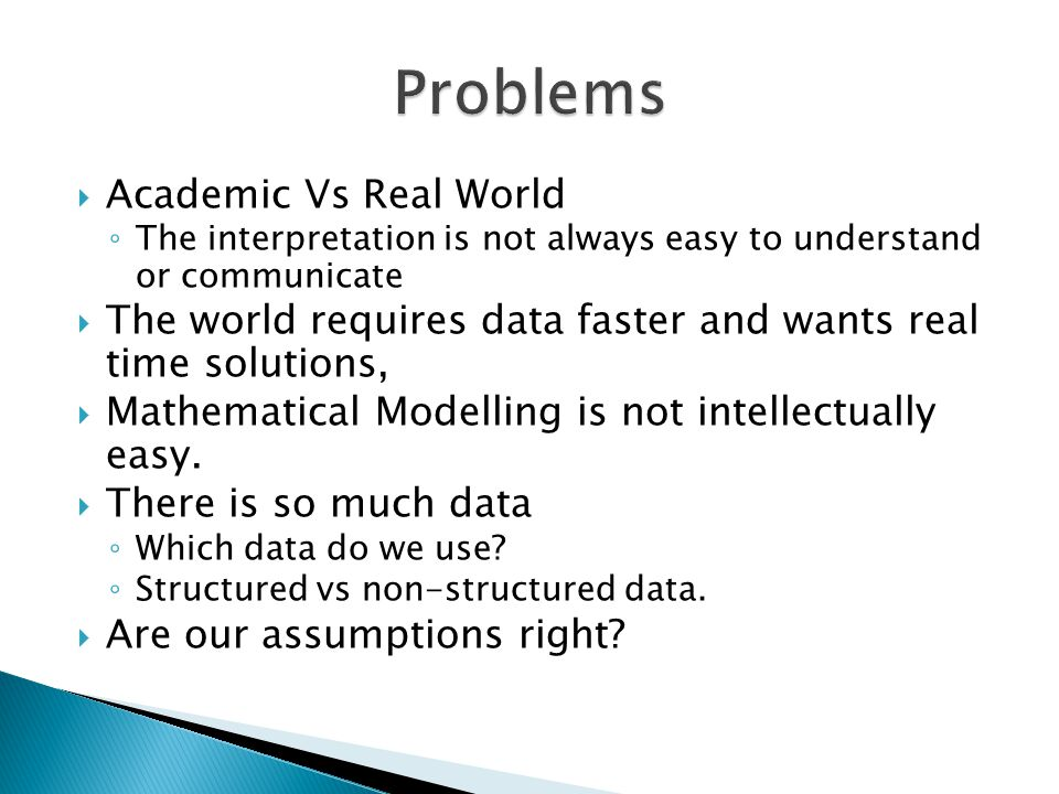 Problems Academic Vs Real World