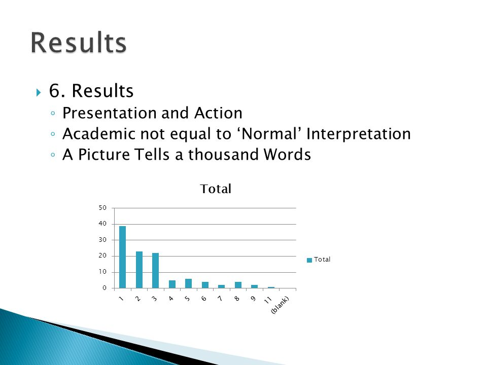 Results 6. Results Presentation and Action