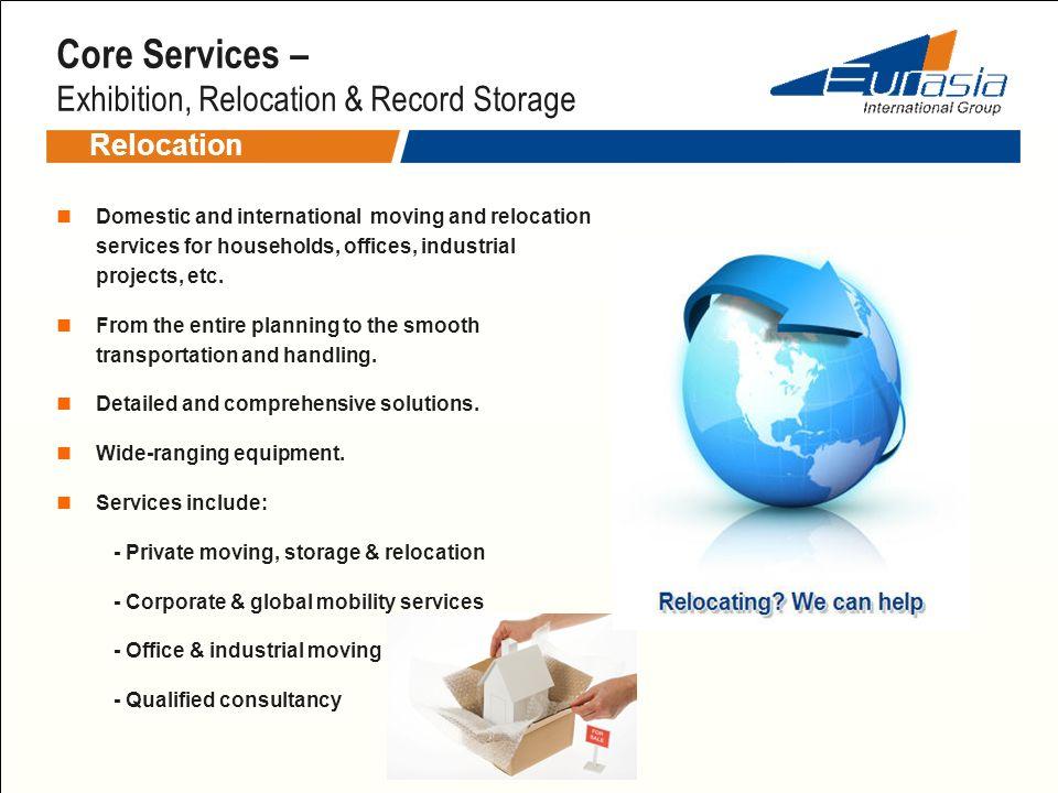 Core Services – Exhibition, Relocation & Record Storage