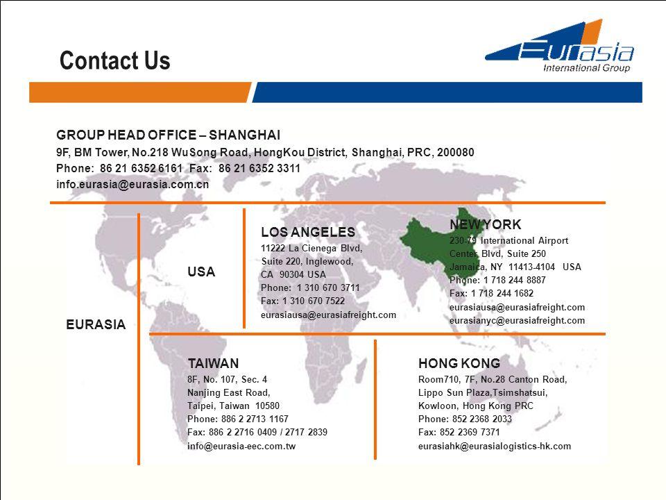 Contact Us GROUP HEAD OFFICE – SHANGHAI NEW YORK LOS ANGELES USA