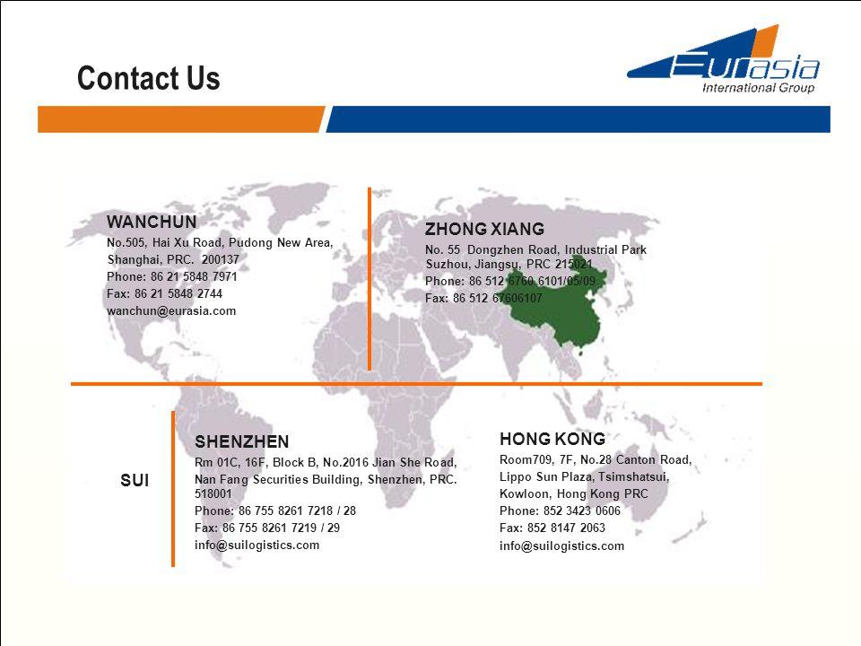 Contact Us WANCHUN ZHONG XIANG SHENZHEN HONG KONG SUI