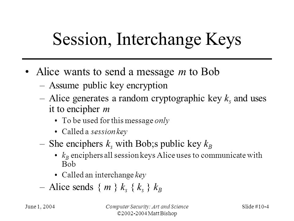 Session, Interchange Keys