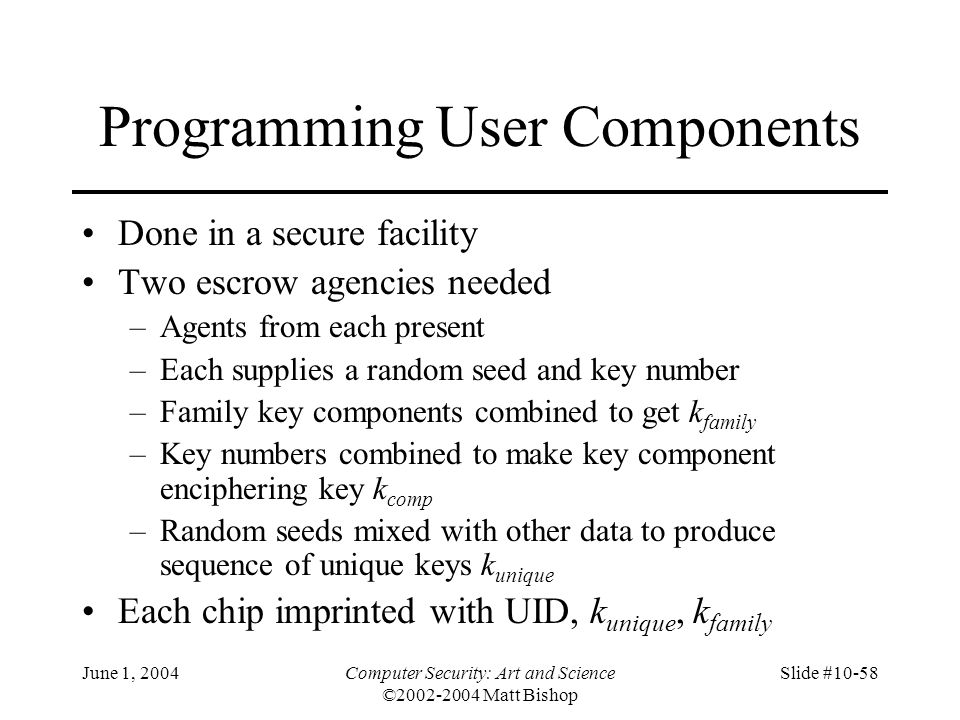 Programming User Components