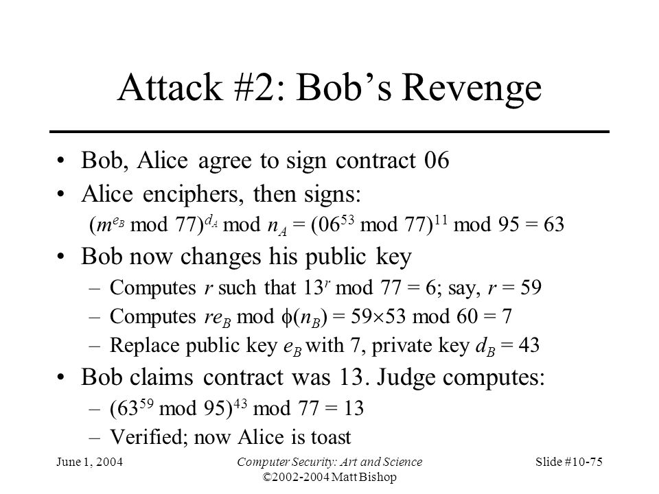 Attack #2: Bob's Revenge