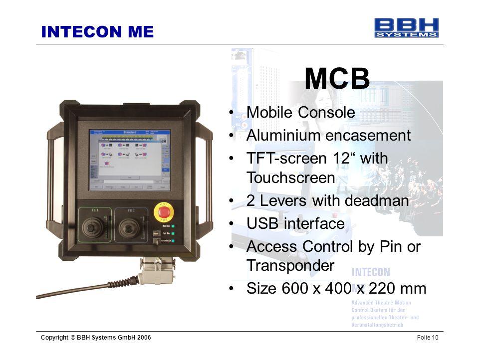 MCB Mobile Console Aluminium encasement