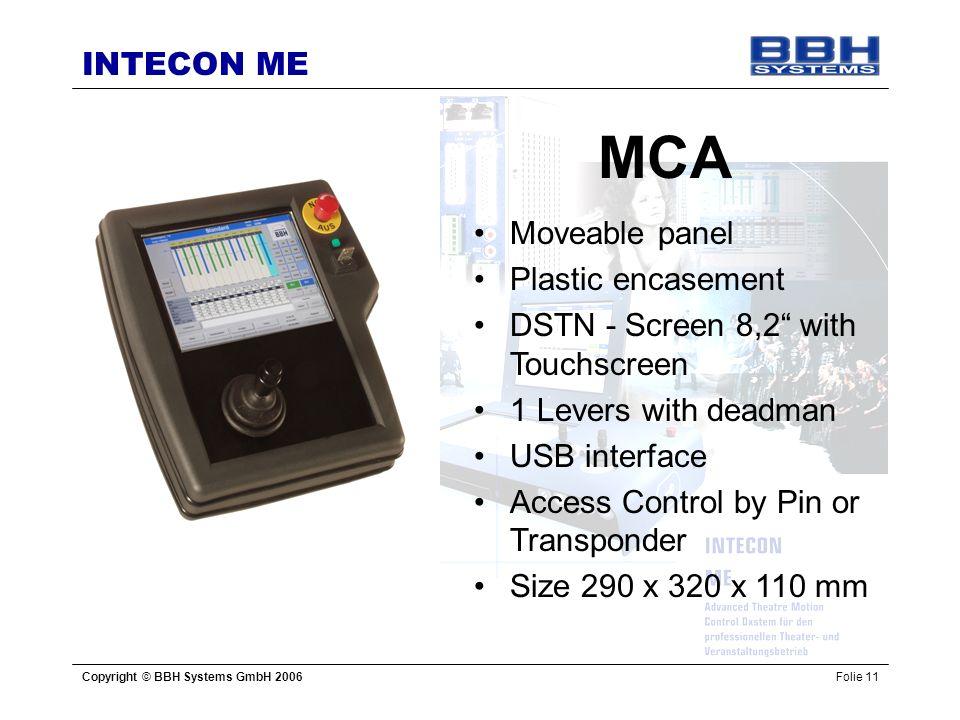 MCA Moveable panel Plastic encasement