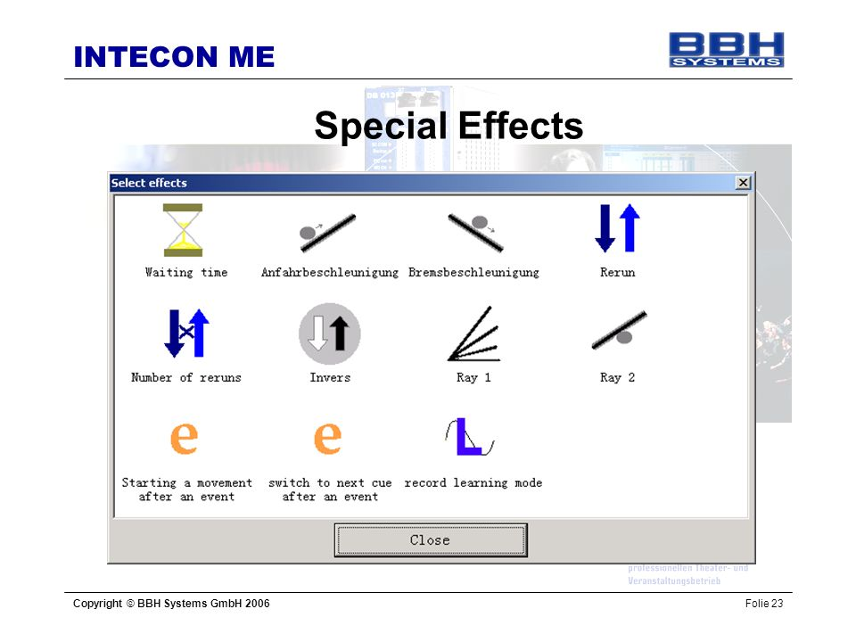 Special Effects Copyright © BBH Systems GmbH 2006