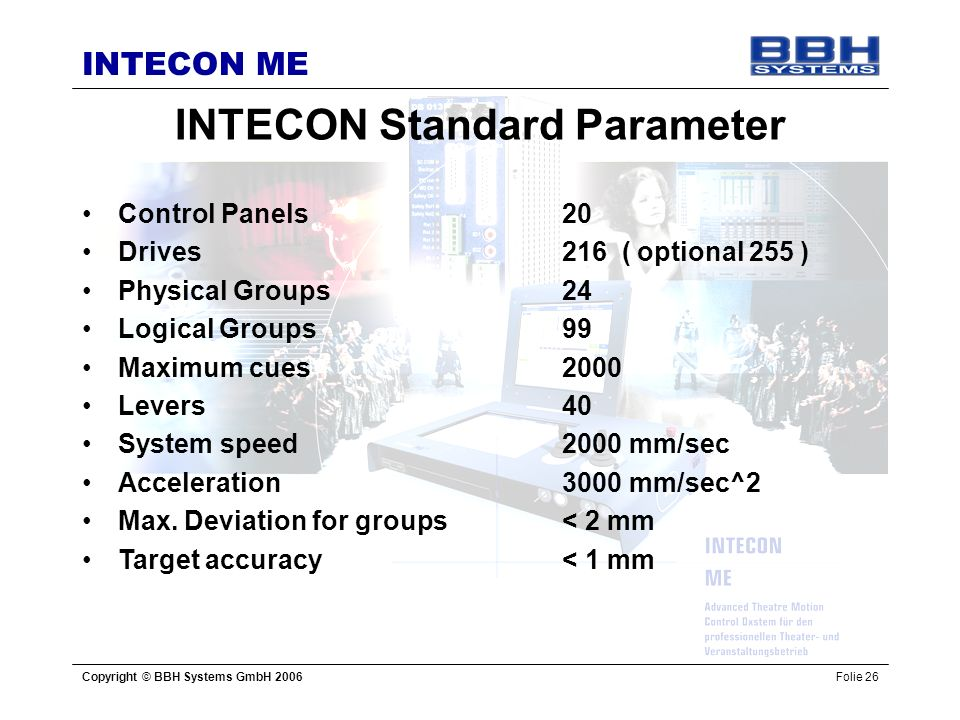 INTECON Standard Parameter