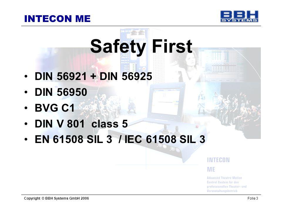 Safety First DIN 56921 + DIN 56925 DIN 56950 BVG C1 DIN V 801 class 5