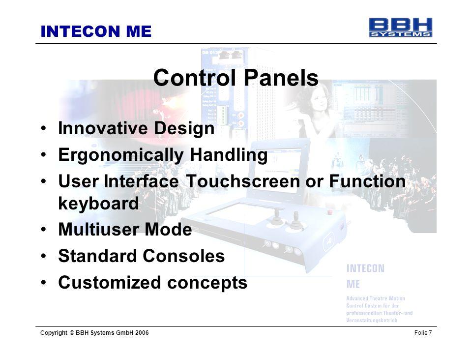 Control Panels Innovative Design Ergonomically Handling