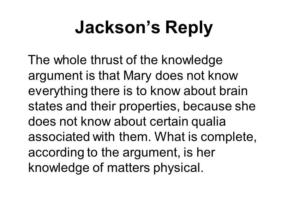 Jackson's Reply