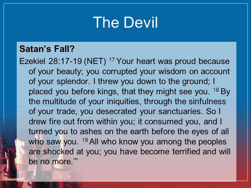 The Devil Satan's Fall