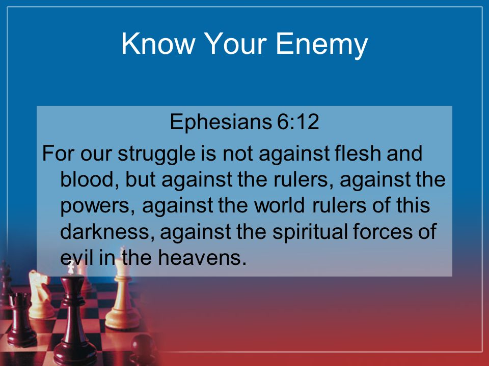 Know Your Enemy Ephesians 6:12