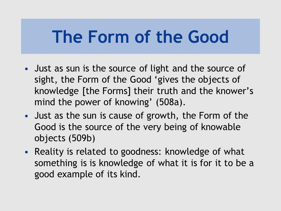 The Form of the Good