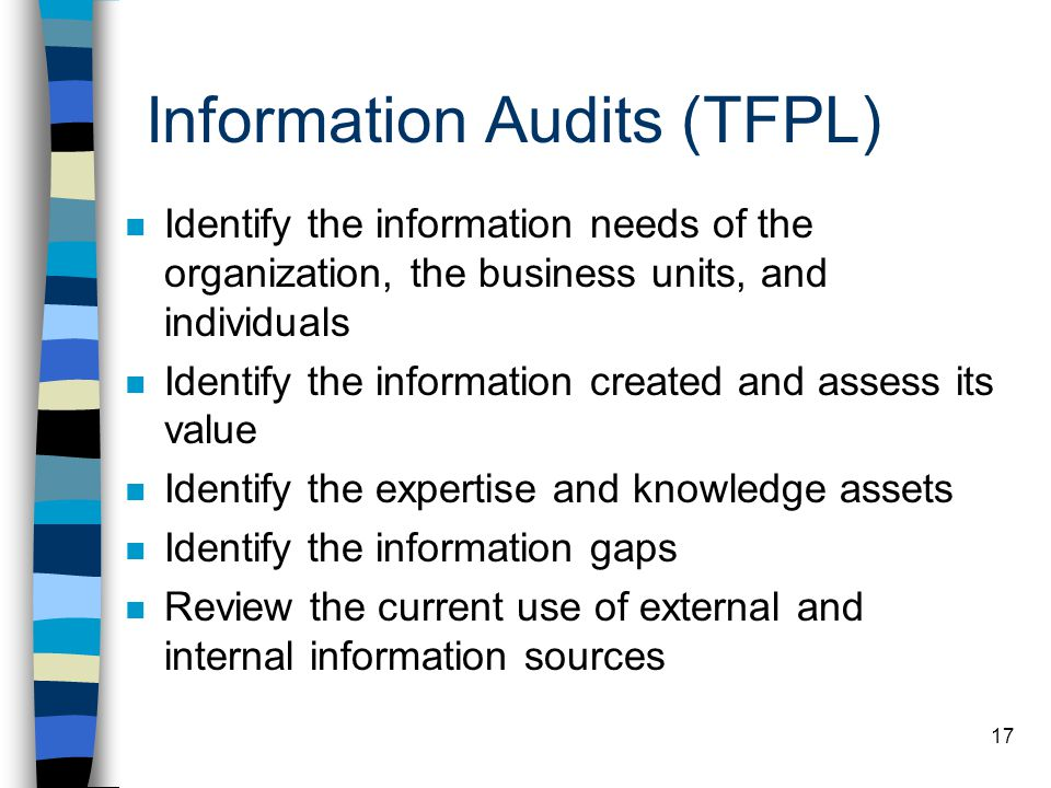 Information Audits (TFPL)