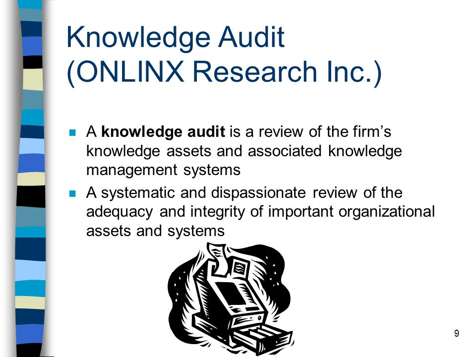 Knowledge Audit (ONLINX Research Inc.)