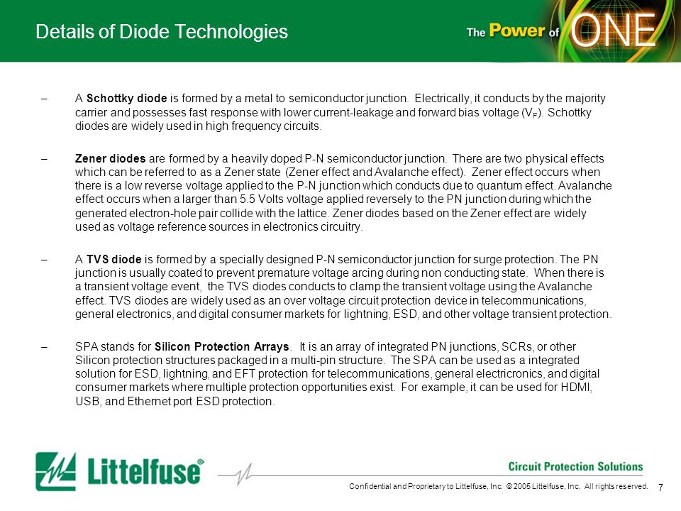 Details of Diode Technologies