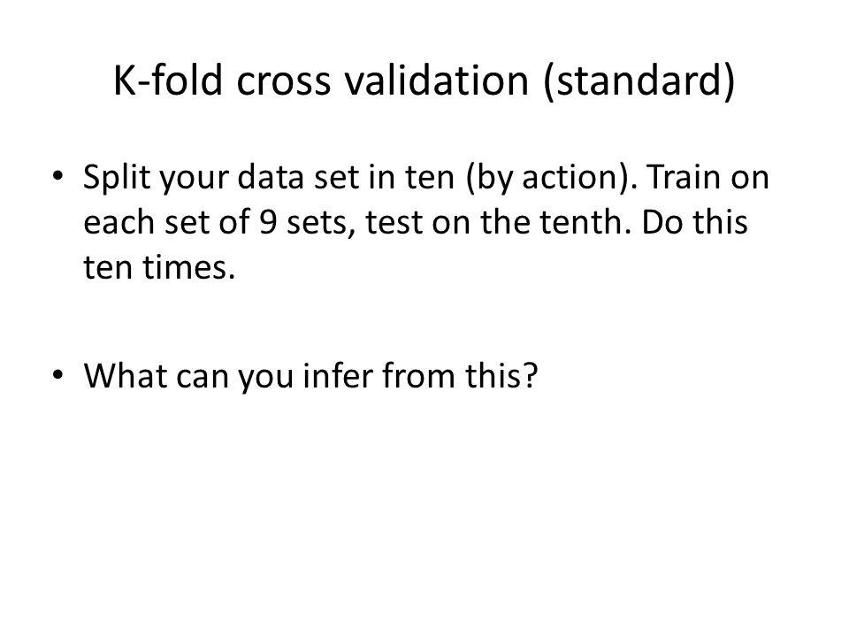 K-fold cross validation (standard)