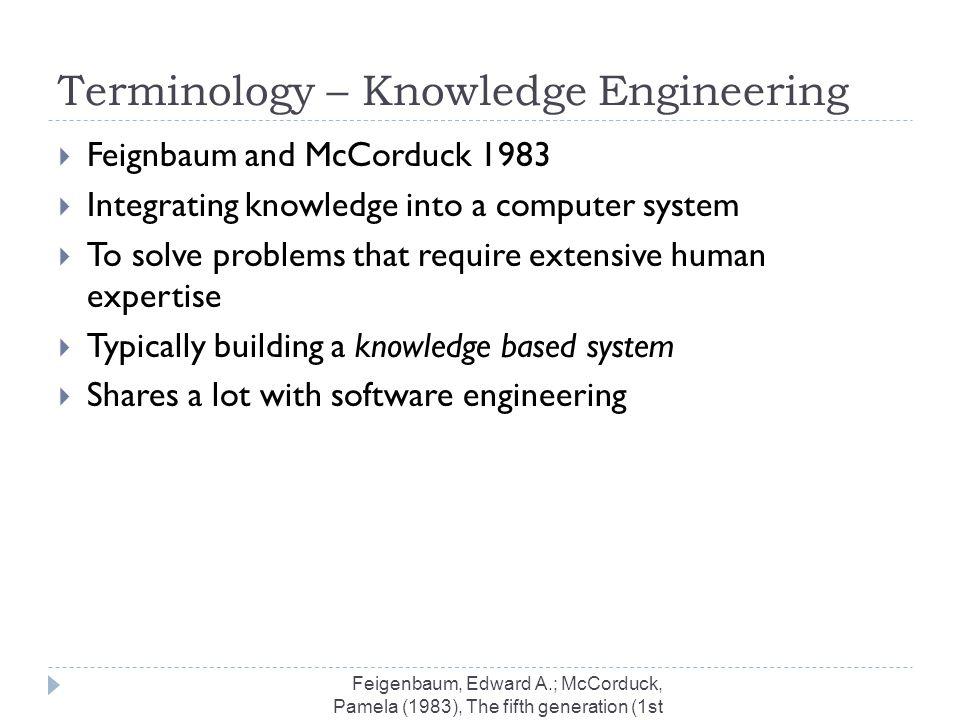 Terminology – Knowledge Engineering