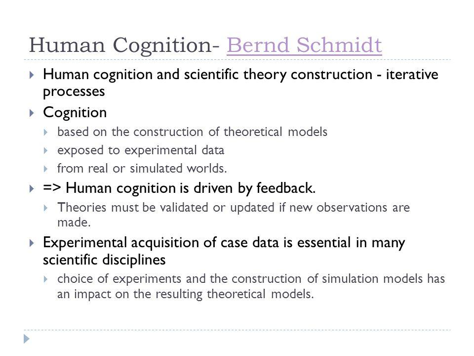Human Cognition- Bernd Schmidt