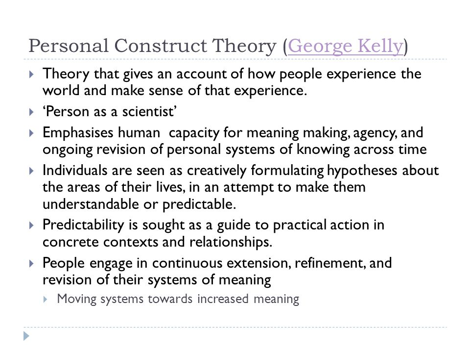 Personal Construct Theory (George Kelly)