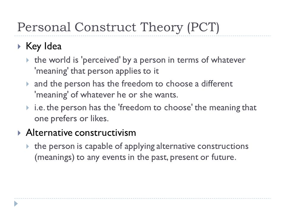 Personal Construct Theory (PCT)