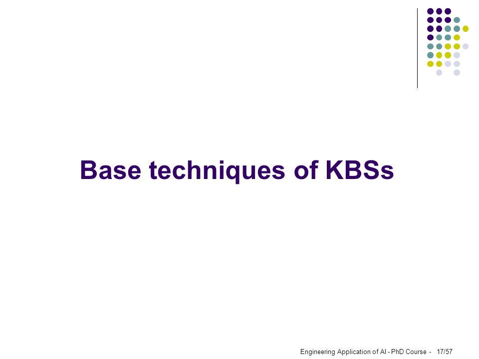 Base techniques of KBSs