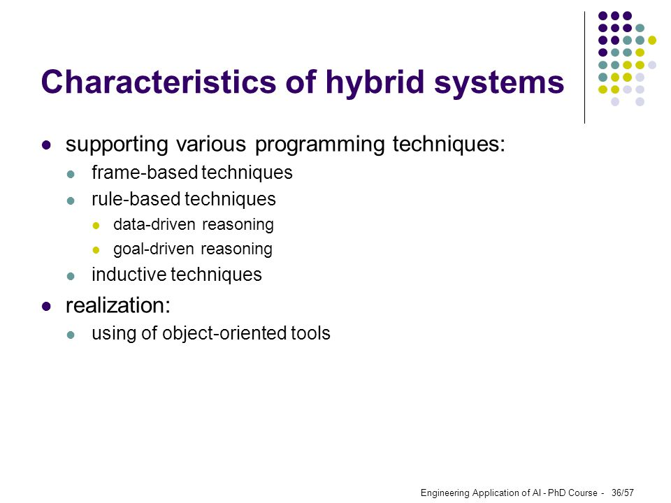 Characteristics of hybrid systems