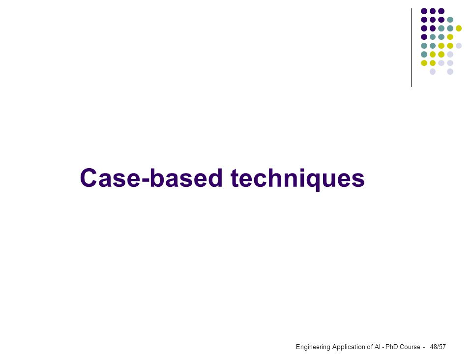 Case-based techniques
