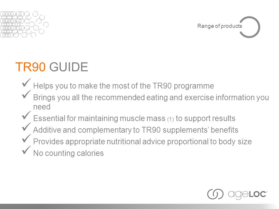 TR90 GUIDE Helps you to make the most of the TR90 programme
