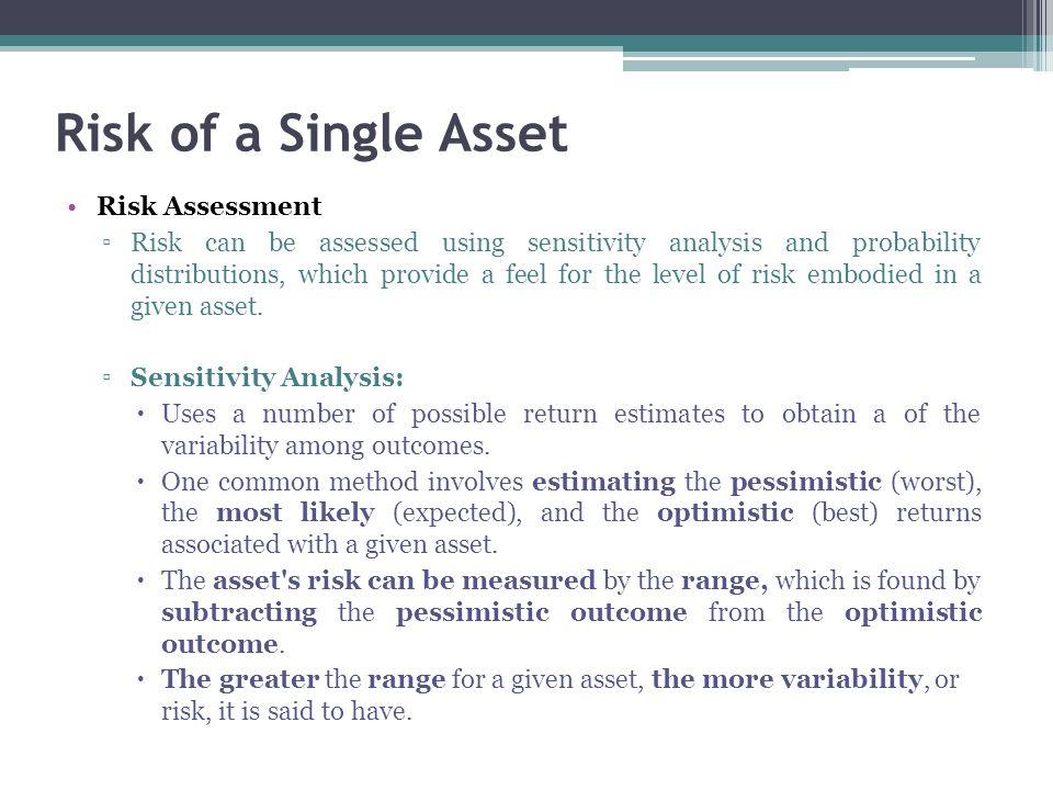 Risk of a Single Asset Risk Assessment