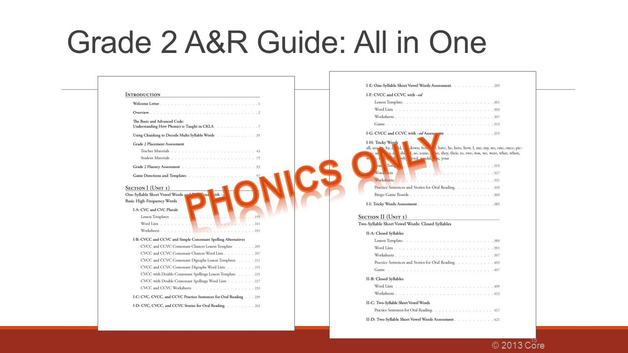 Grade 2 A&R Guide: All in One