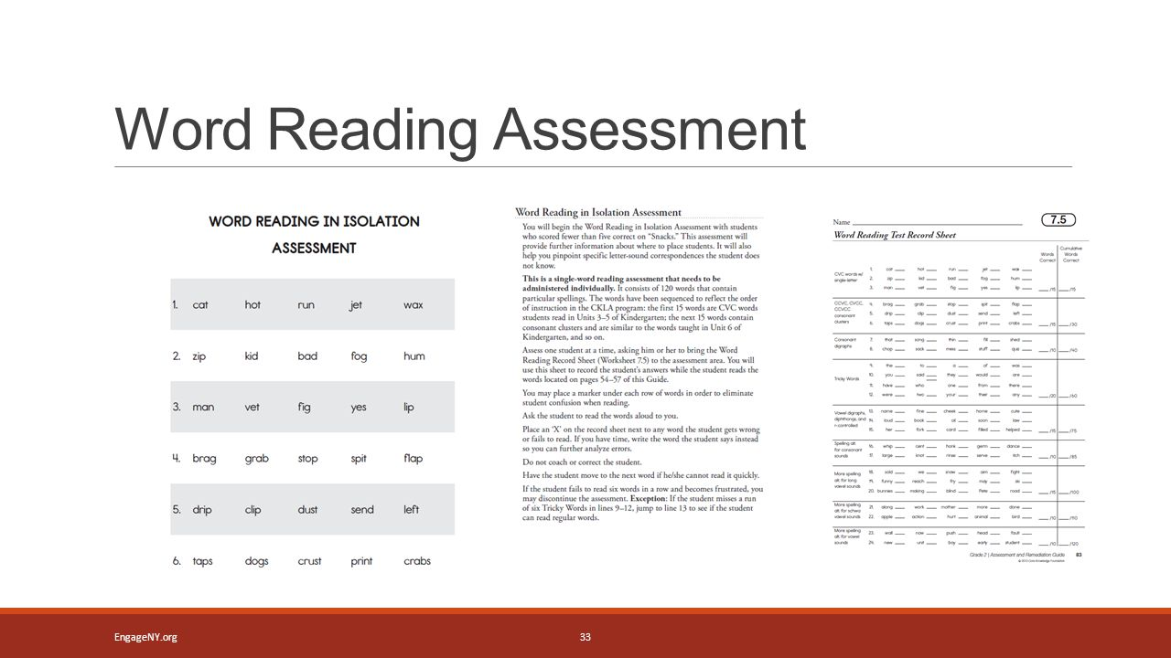 Word Reading Assessment