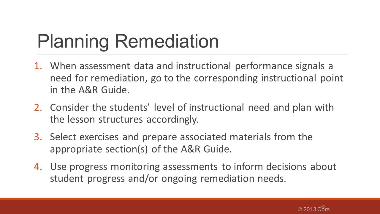 Planning Remediation