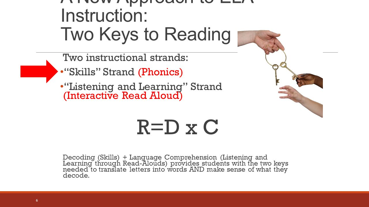 A New Approach to ELA Instruction: Two Keys to Reading