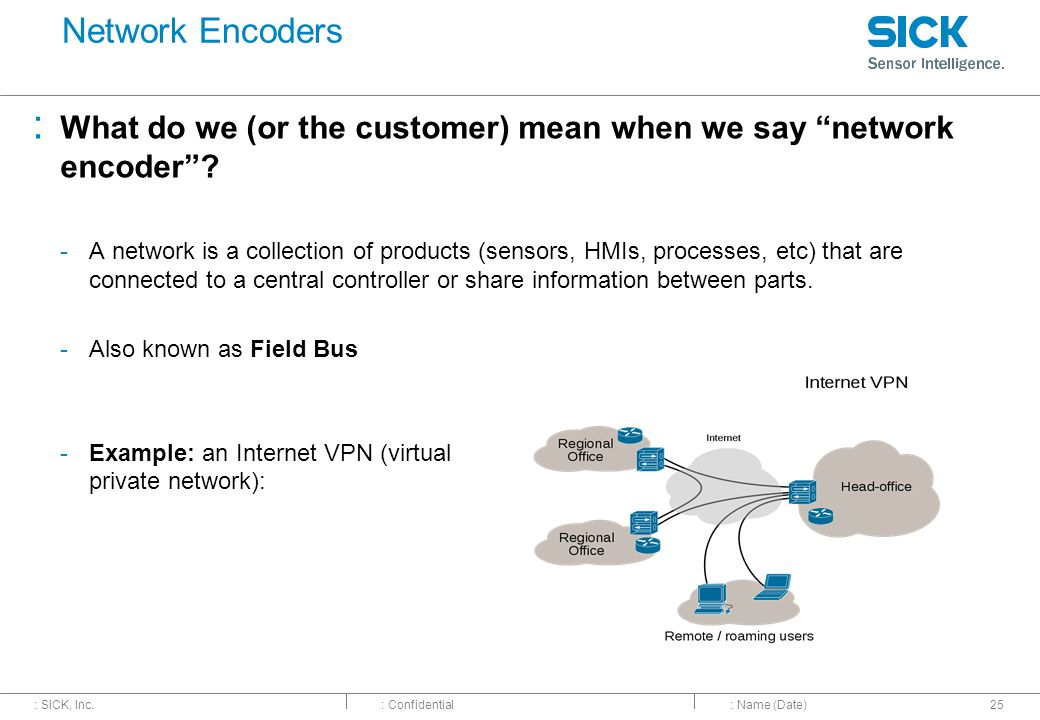 Network Encoders What do we (or the customer) mean when we say network encoder