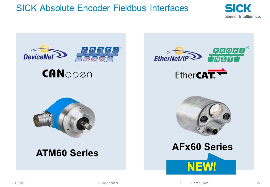 SICK Absolute Encoder Fieldbus Interfaces