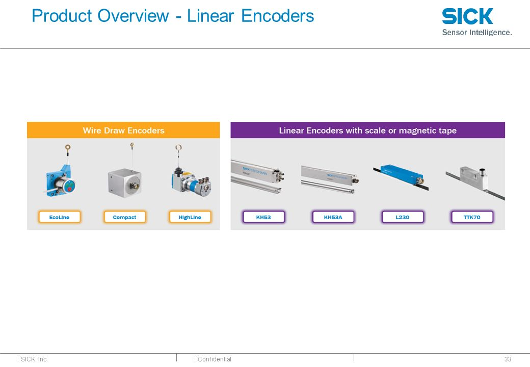 Product Overview - Linear Encoders